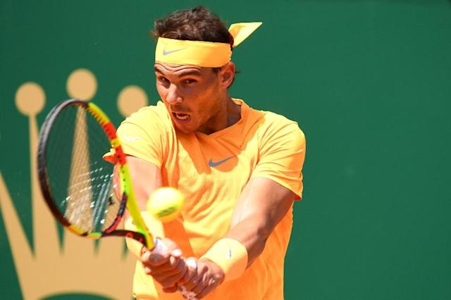 Rafael Nadal was far too good for Grigor Dimitrov as he eased into the Monte Carlo Masters final (AFP Photo/YANN COATSALIOU)