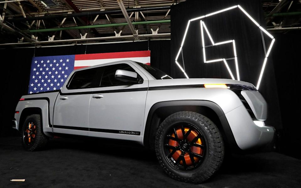 The electric Endurance pick-up truck on display at Lordstown Motors Corporation, in Lordstown, Ohio - Tony Dejak/AP