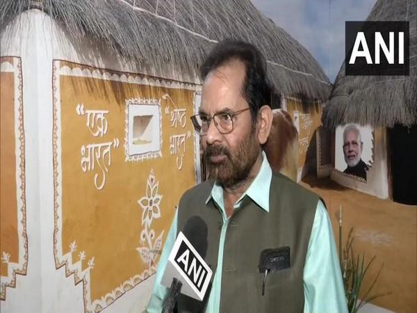 Union Minister and Deputy Leader of House in the Rajya Sabha, Mukhtar Abbas Naqvi speaking to ANI, in Delhi on Tuesday. [Photo/ANI]