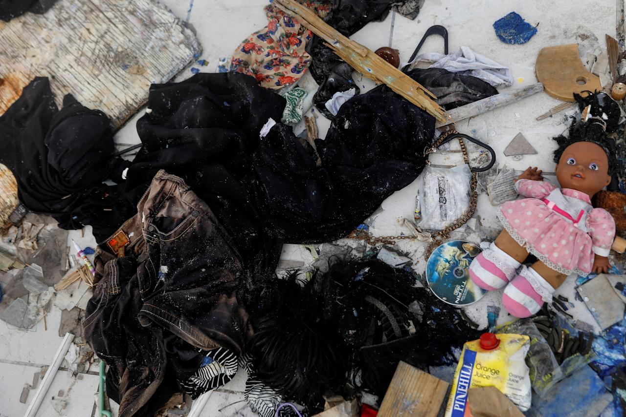 <p>Items are seen on floor of a destroyed home at Codrington on the island of Barbuda just after a month after Hurricane Irma struck the Caribbean islands of Antigua and Barbuda, October 7, 2017. REUTERS/Shannon Stapleton </p>