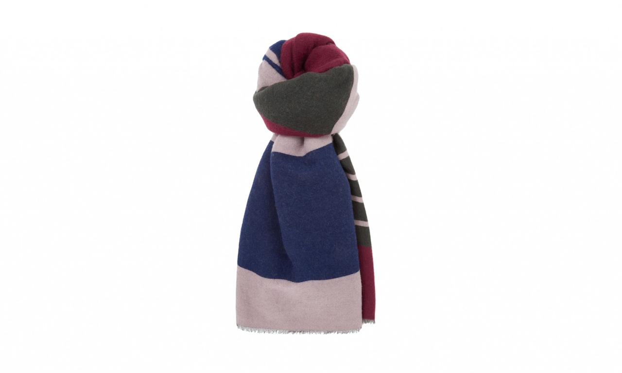 "<p>Colour Block Stripe Scarf, $99, <a rel=""nofollow"" href=""http://www.cosstores.com/us/Women/Hats_Scarves_Gloves/Colour-block_stripe_scarf/10672463-23165197.1#23165199"">cosstores.com</a> </p>"