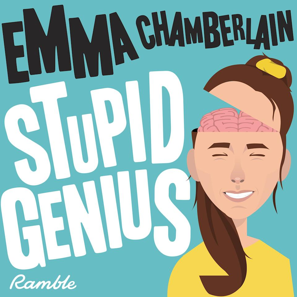 "<p>This podcast is a little out of the box. No interviews, no recaps - just random observations. It comes straight from the brain of YouTube star Emma Chamberlain. Emma tries to crack the code each week on some of the most perplexing (and random) questions. You often find yourself relating to her attempts to solve the answers to each question, wondering why you never googled it until now. By the end of it, you actually leave with fun facts you probably never knew before. But if you're ever caught in a random trivia game, you're fully set! </p> <p><a href=""http://podcasts.apple.com/us/podcast/stupid-genius-with-emma-chamberlain/id1458568923"" target=""_blank"" class=""ga-track"" data-ga-category=""Related"" data-ga-label=""http://podcasts.apple.com/us/podcast/stupid-genius-with-emma-chamberlain/id1458568923"" data-ga-action=""In-Line Links"">Listen to <strong>Stupid Genius With Emma Chamberlain</strong> now</a>. </p>"