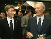 <p>Clint Eastwood and his son Scott talk at the afterparty for the 2006 movie premiere of <em>Flags of Our Fathers</em> in Beverly Hills, California. </p>
