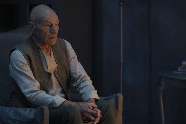 Patrick Stewart in the Season 1 finale of <em>Star Trek: Picard</em>, which airs March 26 on CBS All Access. (Photo: Trae Patton/CBS)