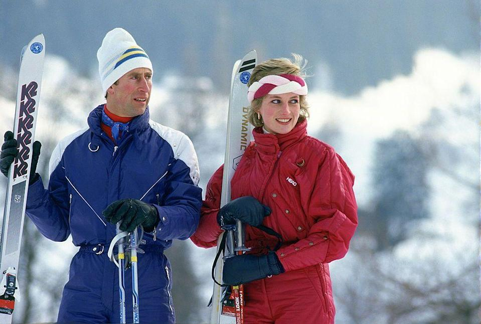 <p>Princess Diana and Prince Charles in Switzerland on a skiing holiday together. </p><p>Other celebrity visitors this year: Members of band Queen, Brian May, Roger Taylor, Freddie Mercury and John Deacon.</p>