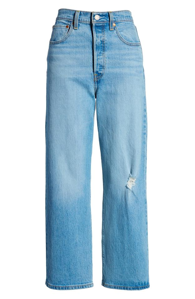 "<p><strong>Levi's</strong></p><p>nordstrom.com</p><p><strong>$64.90</strong></p><p><a href=""https://go.redirectingat.com?id=74968X1596630&url=https%3A%2F%2Fshop.nordstrom.com%2Fs%2Flevis-ribcage-super-high-waist-ankle-straight-leg-jeans-tango-blue%2F5274733&sref=http%3A%2F%2Fwww.harpersbazaar.com%2Ffashion%2Ftrends%2Fg28401740%2Fnordstrom-anniversary-sale-2019%2F"" target=""_blank"">Shop Now</a></p><p><strong><em>Original price: $98</em></strong></p><p>Upgrade your denim collection for fall with these ultra high-waisted jeans with just the right amount of flare. <br></p>"