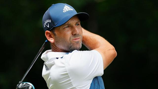 Storms kept 60 players from completing their opening rounds at the Andalucia Valderrama Masters, but Sergio Garcia was in contention.