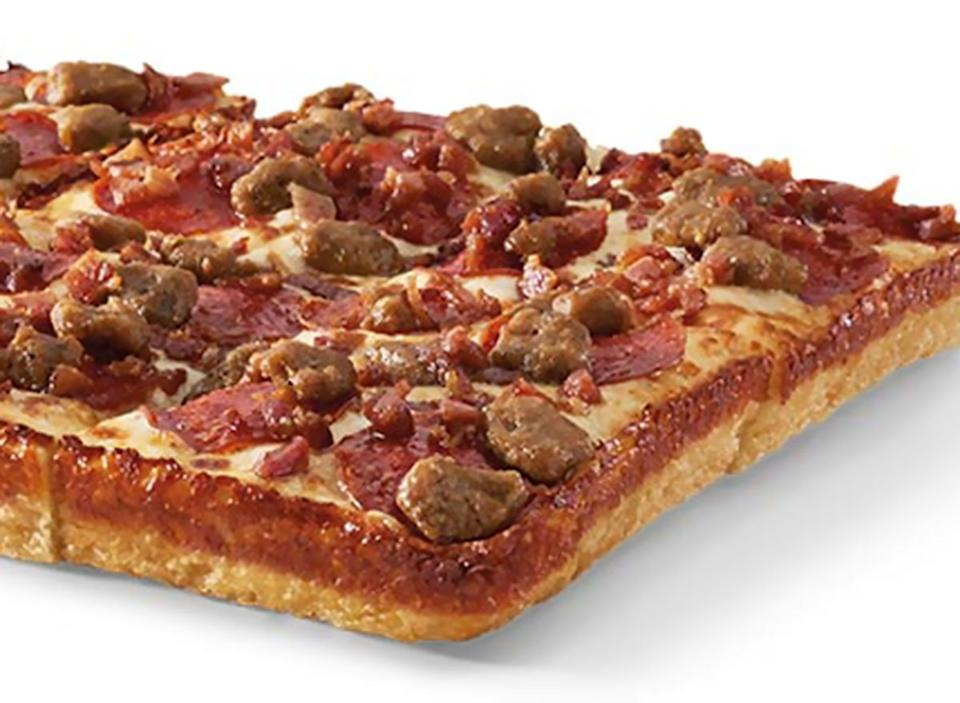little caesars deep deep dish 3 meat treat pizza