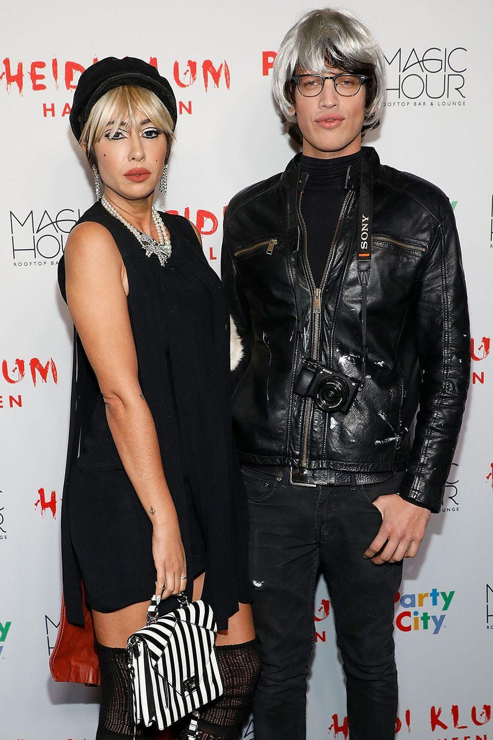<p>Actress Jackie Cruz and boyfriend Fernando Garcia went for a 1970s Andy Warhol-inspired look at Heidi Klum's 2017 Halloween party in New York City.</p>