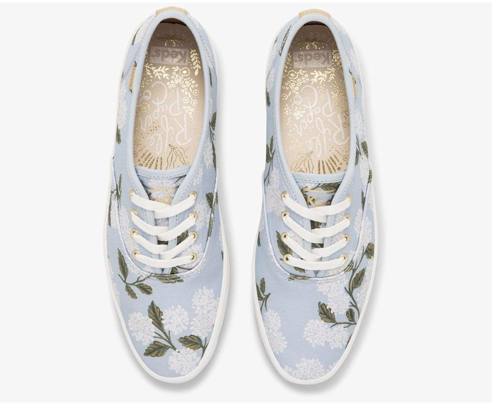 <p>We're all about the details of these <span>Keds x Rifle Paper Co. Vintage Champion Orangerie Sneakers</span> ($90). They look laid-back and vintage, offering both comfort and style. This iteration feels feminine, modern, and wearable.</p>