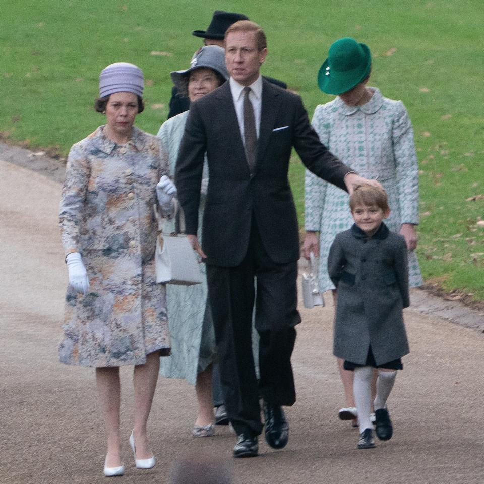 <p>It's believed the two kids in the photos are the actors who will play Prince Andrew and Prince Edward. Photo: Media Mode </p>