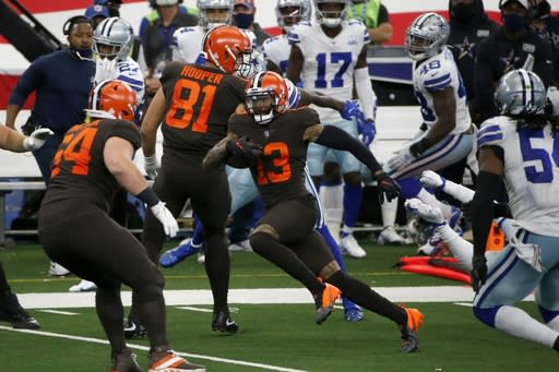 Beckham's 3-TD outing may signal return for Browns' star
