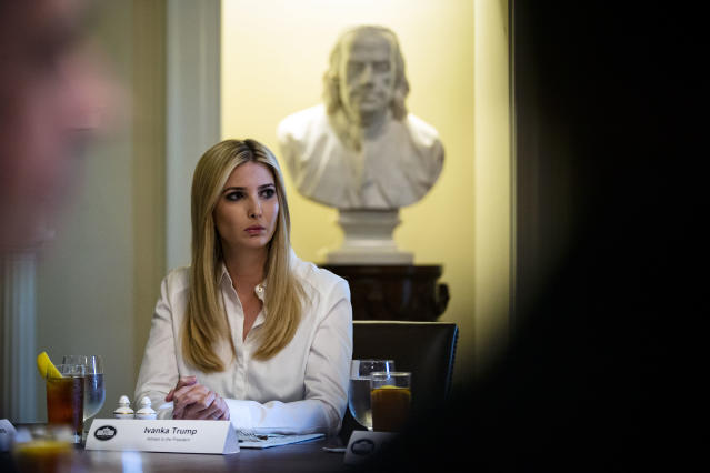 Ivanka Trump is being challenged for her views on paid family leave. (Photo: Getty Images)