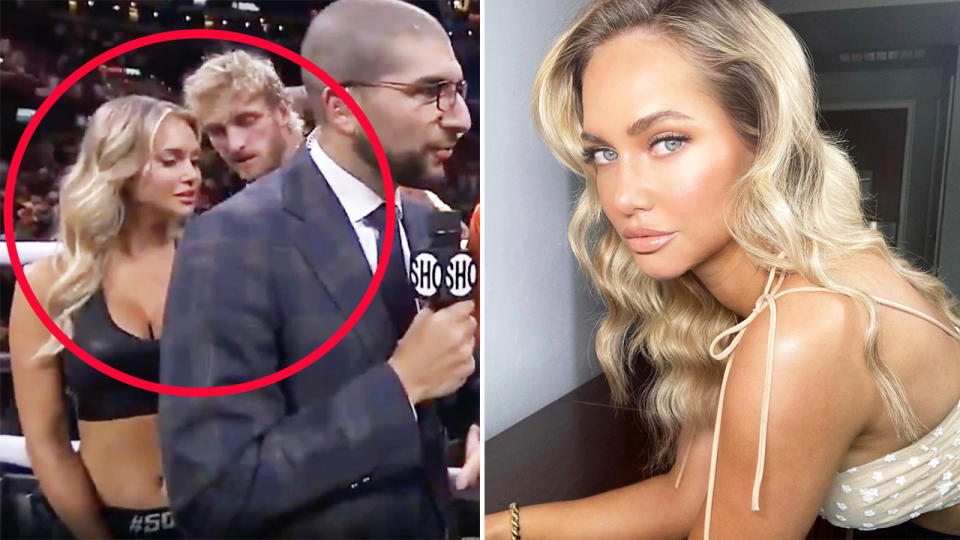 Logan Paul was spotted in a cheeky moment with Kourtney Kellar. Image: Showtime/Instagram