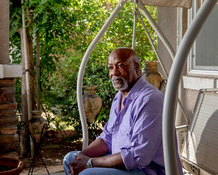 """Larry Collins, at home in Lathrop, Calif., on July 31, was a bridge toll collector until COVID-19 led the state to automate the job to protect employees and drivers. """"I just want to go back to what I was doing,"""" says Collins, whose job is among the millions that economists say could be lost forever as companies accelerate moves toward automation. 