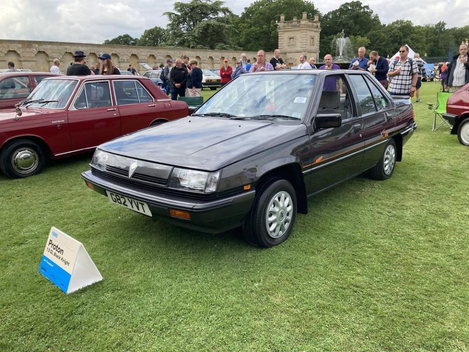 Pic: Iconic 1989 Proton Saga Black Knight Edition wins the top prize at UK's 2021 Hagerty Festival. ― Picture via Twitter/peternunn3