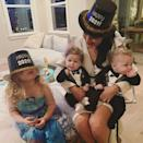 """<p>""""Ringing in the New Year with these Party Animals,"""" Brie Bella wrote alongside a <a href=""""https://www.instagram.com/p/CJfCtb2B2-1/"""" rel=""""nofollow noopener"""" target=""""_blank"""" data-ylk=""""slk:photo of her with her children"""" class=""""link rapid-noclick-resp"""">photo of her with her children</a>, Birdie and Buddy, and her nephew, Matteo. """"🌟🥂🥳 Happy New Year's Bella Army 💋,"""" she wrote to her followers. </p>"""