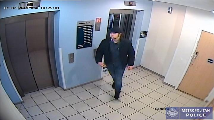 CCTV of murderer Ayoub Majdouline, 19, at a Travelodge in Walthamstow, a day before the attack (Picture: PA)