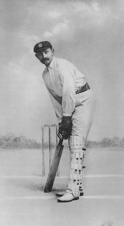 Indian prince and Sussex and England cricketer Kumar Shri Ranjitsinhji (a.k.a Ranji, 1872  - 1933), circa 1900. (Photo by Elliott & Fry/Hulton Archive/Getty Images)