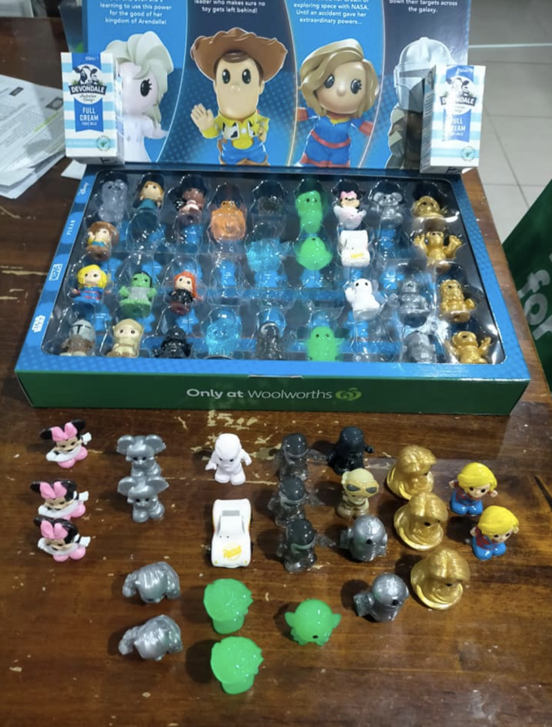 Woolworths Ooshies and a collector's case nearly completely full.