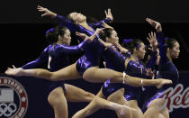 Anna Li performs on the balance beam during the preliminary round of the women's Olympic gymnastics trials, Friday, June 29, 2012, in San Jose, Calif. (AP Photo/Julie Jacobson)