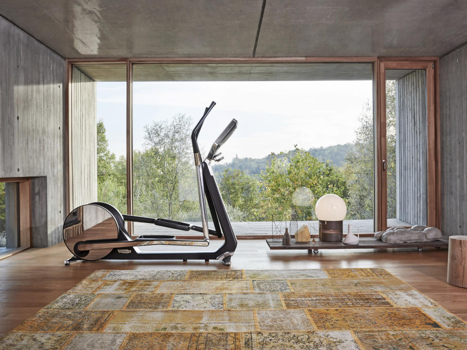 This product image released by Technogym shows the Cross Personal elliptical trainer designed by Italian architect and designer Antonio Citterio. (Technogym via AP)