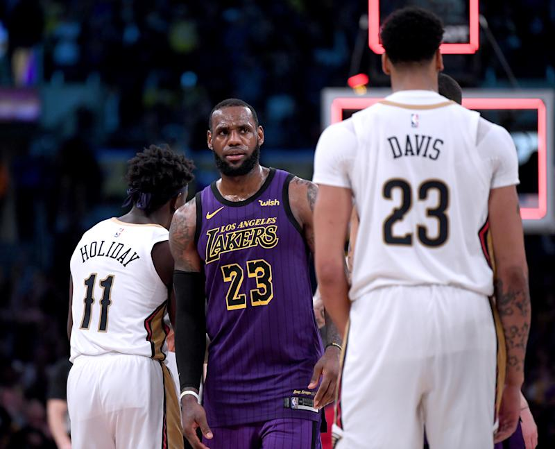 The Lakers plan to build around LeBron James may be able to fully qualify for a deal with Anthony Davis. (Getty)