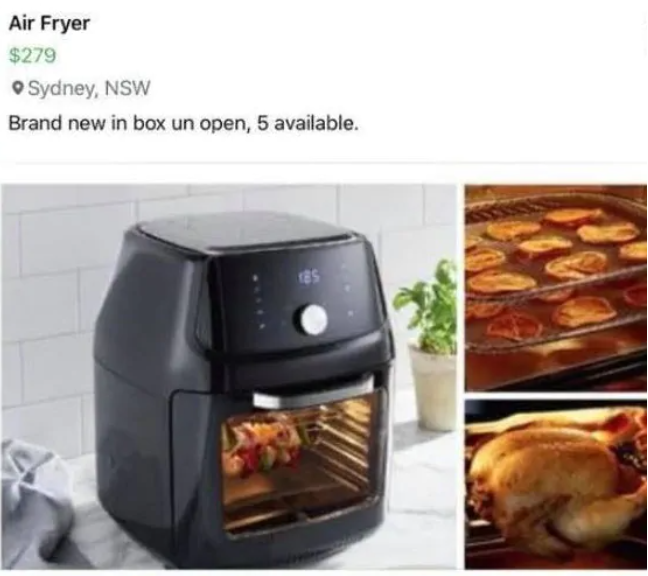 aldi air fryer facebook marketplace