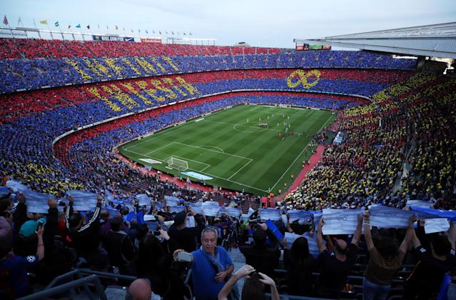 Soccer Football - La Liga Santander - FC Barcelona vs Real Sociedad - Camp Nou, Barcelona, Spain - May 20, 2018 General view before the match REUTERS/Albert Gea