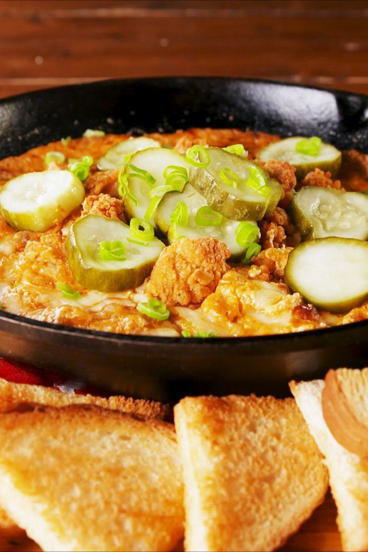 """<p>Music City's local fave—hot chicken—just got a dip update! </p><p>Get the recipe from <a href=""""https://www.delish.com/cooking/recipe-ideas/a26077695/nashville-hot-chicken-dip-recipe/"""" rel=""""nofollow noopener"""" target=""""_blank"""" data-ylk=""""slk:Delish"""" class=""""link rapid-noclick-resp"""">Delish</a>.</p>"""