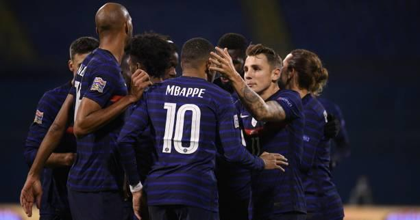 Foot - L. nations - Ligue des nations : la France s'impose en Croatie grâce à Griezmann et Mbappé