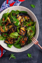 """<p>This delicious salad makes a wonderfully fresh, healthy, and filling warm weather meal.</p><p>Get the <a href=""""https://www.saltandlavender.com/grilled-eggplant-spinach-salad/"""" rel=""""nofollow noopener"""" target=""""_blank"""" data-ylk=""""slk:Grilled Aubergine & Spinach Salad"""" class=""""link rapid-noclick-resp"""">Grilled Aubergine & Spinach Salad</a> recipe.</p><p>Recipe from <a href=""""https://www.saltandlavender.com/"""" rel=""""nofollow noopener"""" target=""""_blank"""" data-ylk=""""slk:Salt & Lavender"""" class=""""link rapid-noclick-resp"""">Salt & Lavender</a>.</p>"""
