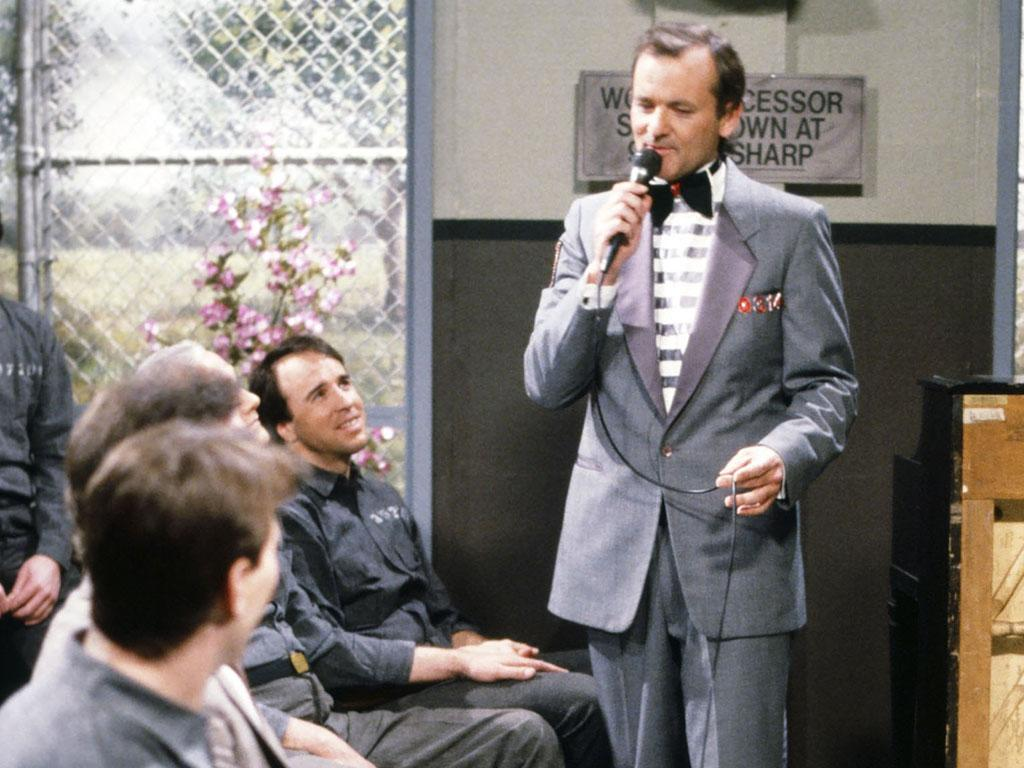 SATURDAY NIGHT LIVE -- Episode 14 -- Pictured: (l-r) Kevin Nealon as Gary Clark, Bill Murray as Nick during the 'Nick Slammer' skit on March 21, 1987 -- Photo by: NBC/NBCU Photo Bank