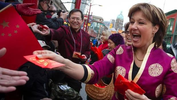 Image result for Chinese Trudeau Christy clark election 2017