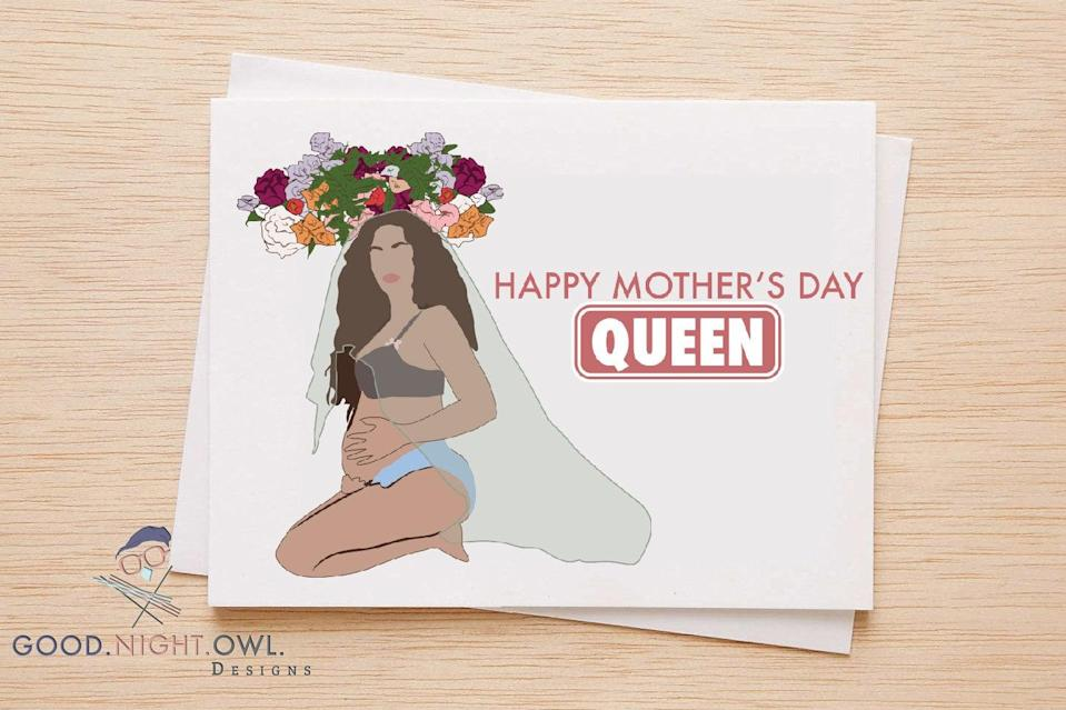 "<p><a href=""https://www.popsugar.com/buy/Happy-Mother-Day-Queen-Card-316513?p_name=Happy%20Mother%27s%20Day%20Queen%20Card&retailer=etsy.com&pid=316513&price=6&evar1=moms%3Aus&evar9=44774025&evar98=https%3A%2F%2Fwww.popsugar.com%2Ffamily%2Fphoto-gallery%2F44774025%2Fimage%2F44774029%2FHappy-Mothers-Day-Queen-Card&list1=sisters%2Cmotherhood%2Cmothers%20day&prop13=api&pdata=1"" class=""link rapid-noclick-resp"" rel=""nofollow noopener"" target=""_blank"" data-ylk=""slk:Happy Mother's Day Queen Card"">Happy Mother's Day Queen Card</a> ($6 and up)</p>"