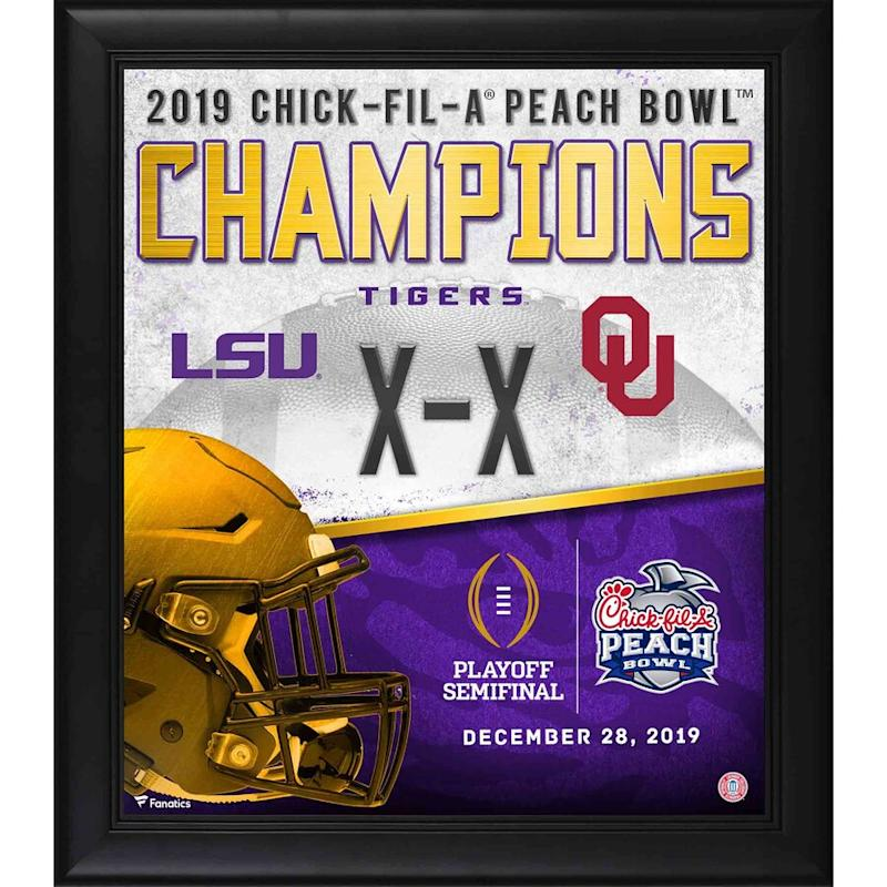 LSU Framed 2019 Peach Bowl Champions Collage