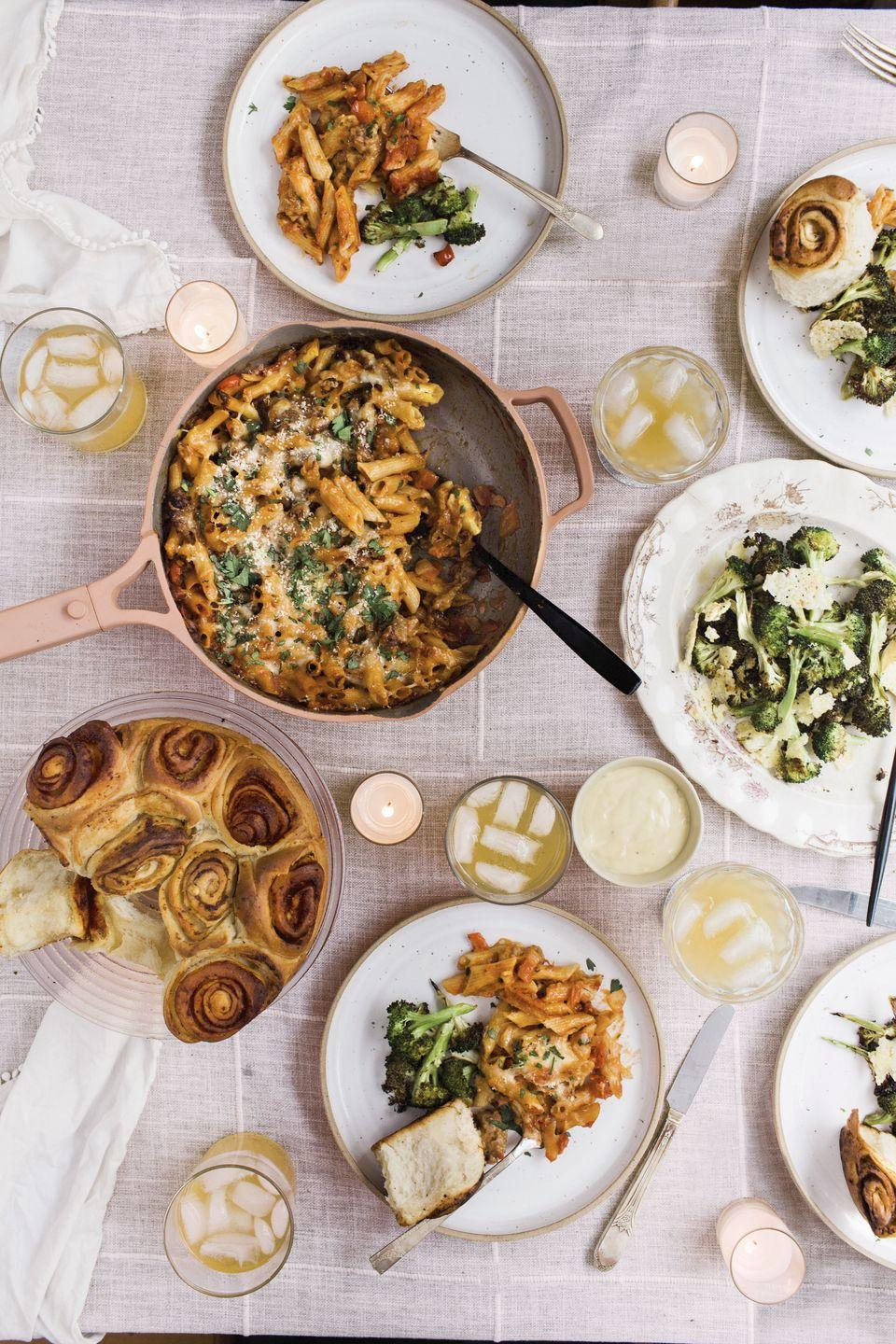 """<p>Surprise Mom with this ooey-gooey one-pot pasta bake that's surprisingly easy to make — and easy to clean up!</p><p><a href=""""https://www.womansday.com/food-recipes/a34621007/cheesy-sausage-and-pepper-pasta-bake-recipe/"""" rel=""""nofollow noopener"""" target=""""_blank"""" data-ylk=""""slk:Get the recipe for Cheesy Sausage and Pepper Pasta Bake."""" class=""""link rapid-noclick-resp""""><em>Get the recipe for Cheesy Sausage and Pepper Pasta Bake.</em></a></p>"""