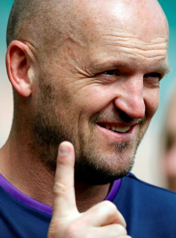 Scotland coach Gregor Townsend is hoping to lead the Dark Blues into the quarter-finals (AFP Photo/Adrian DENNIS)
