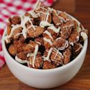 """<p>These little guys are seriously addicting.</p><p>Get the <a href=""""https://www.delish.com/uk/cooking/recipes/a34639905/churro-almonds-recipe/"""" rel=""""nofollow noopener"""" target=""""_blank"""" data-ylk=""""slk:Churro Almonds"""" class=""""link rapid-noclick-resp"""">Churro Almonds</a> recipe.</p>"""