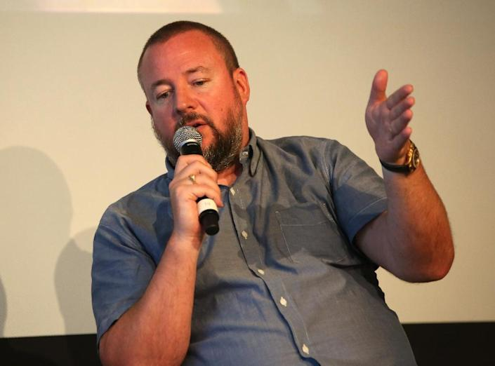 Shane Smith, VICE founder and CEO, speaks at TheGrill NYC at 10, on The Park in New York, on June 12, 2014 (AFP Photo/Paul Zimmerman)