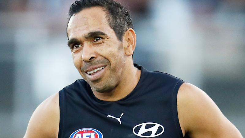 Carlton star Eddie Betts is pictured during a pre-season match.
