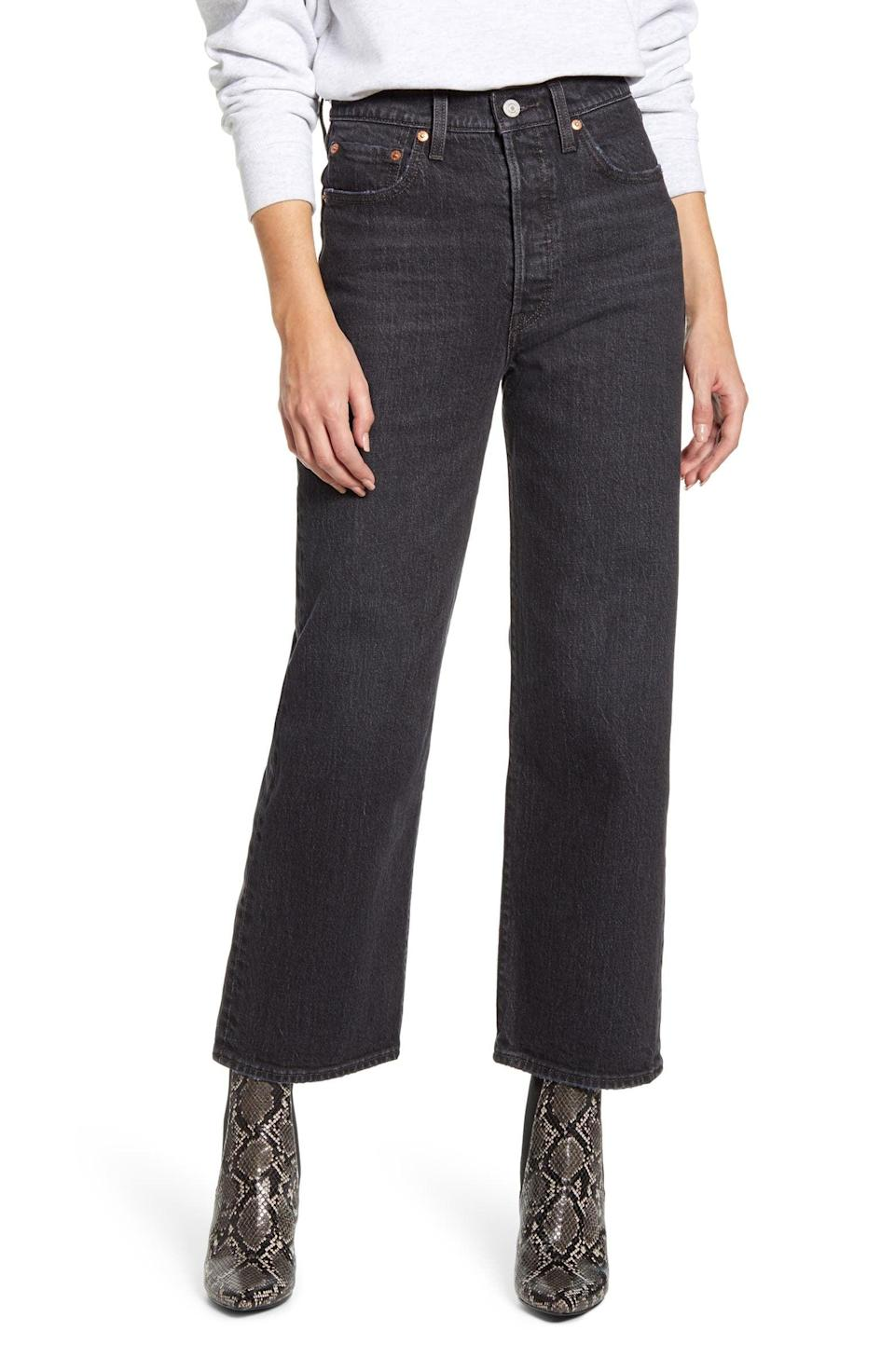 """<p>""""After the great Gen Z vs. Millenial debate of 2021, I realized I needed to invest in a pair of straight leg jeans that won't expose me for the Zillenial I really am. I followed the advice of trusted TikTokers who swear by these <span>Levi's Ribcage High Waist Ankle Straight Leg Jeans</span> ($98). I'll let my off-center middle part expose me for the twenty-something I really am."""" - Karenna Meredith, assocuate editor, Trending </p>"""