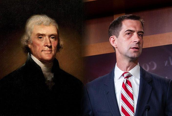 Thomas Jefferson; Tom Cotton