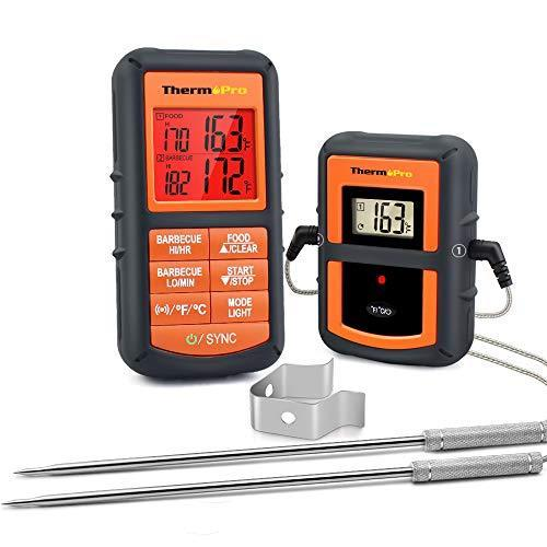 ThermoPro TP08S Wireless Digital Meat Thermometer for Grilling Smoker BBQ Grill Oven Thermomete…