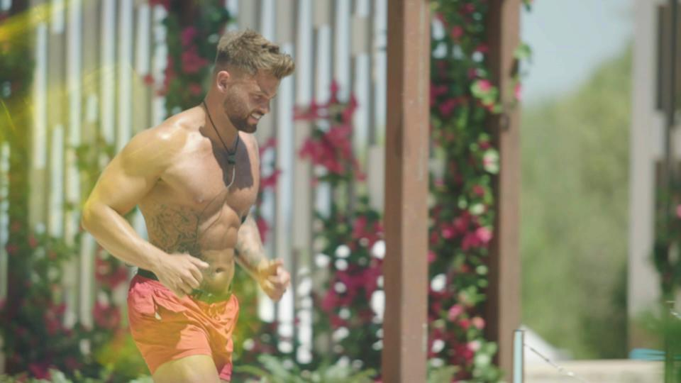 This image and the information contained herein is strictly embargoed until 21.00 Sunday 27th June 2021From Lifted EntertainmentLove Island: SR7: Ep1 on ITV2 and ITV Hub new episodes are available the following morning on BritBoxPictured: Jake arrives.This photograph is (C) ITV Plc and can only be reproduced for editorial purposes directly in connection with the programme or event mentioned above, or ITV plc. Once made available by ITV plc Picture Desk, this photograph can be reproduced once only up until the transmission [TX] date and no reproduction fee will be charged. Any subsequent usage may incur a fee. This photograph must not be manipulated [excluding basic cropping] in a manner which alters the visual appearance of the person photographed deemed detrimental or inappropriate by ITV plc Picture Desk.  This photograph must not be syndicated to any other company, publication or website, or permanently archived, without the express written permission of ITV Picture Desk. Full Terms and conditions are available on the website www.itv.com/presscentre/itvpictures/termsFor further information please contact:james.hilder@itv.com / 0207 157 3052