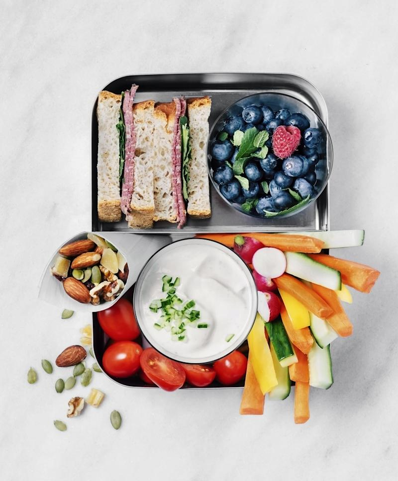 Lunch box on white background