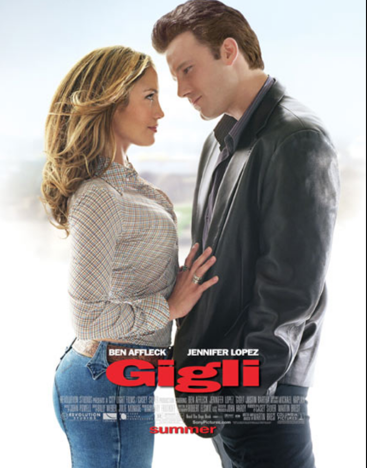 "<p>Who could forget the faithful flop that brought Ben Affleck and Jennifer Lopez together? Sadly, with a <a href=""https://www.boxofficemojo.com/release/rl1012172289/?ref_=bo_shs_sd"" rel=""nofollow noopener"" target=""_blank"" data-ylk=""slk:budget of $54 million"" class=""link rapid-noclick-resp"">budget of $54 million</a>, <em>Gigli </em>only grossed a mere <a href=""https://www.boxofficemojo.com/release/rl1012172289/?ref_=bo_shs_sd"" rel=""nofollow noopener"" target=""_blank"" data-ylk=""slk:$3.7 million on its opening weekend"" class=""link rapid-noclick-resp"">$3.7 million on its opening weekend</a> and <a href=""https://www.boxofficemojo.com/release/rl1012172289/?ref_=bo_shs_sd"" rel=""nofollow noopener"" target=""_blank"" data-ylk=""slk:$7.3 million worldwide"" class=""link rapid-noclick-resp"">$7.3 million worldwide</a>.</p>"