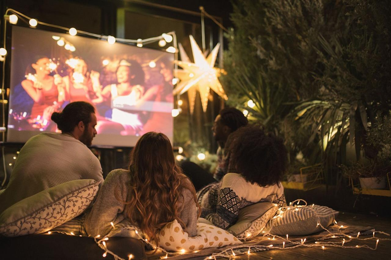 "<p>Level up your standard movie night by setting up a screening — and some cozy seating — right out on your lawn, then picking out an All-American movie that's perfect for the holiday. Don't forget the popcorn!</p><p><strong>RELATED: </strong><a href=""https://www.goodhousekeeping.com/life/entertainment/g27656502/4th-of-july-movies/"" target=""_blank"">The 25 Best Patriotic 4th of July Movies to Watch This Holiday</a></p>"