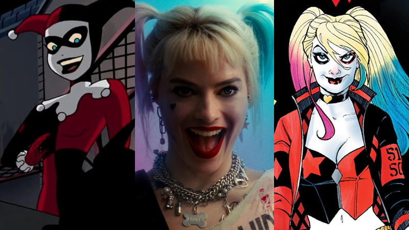 Harley Quinn, through the years. (Credit: Fox/Warner Bros/DC Comics)