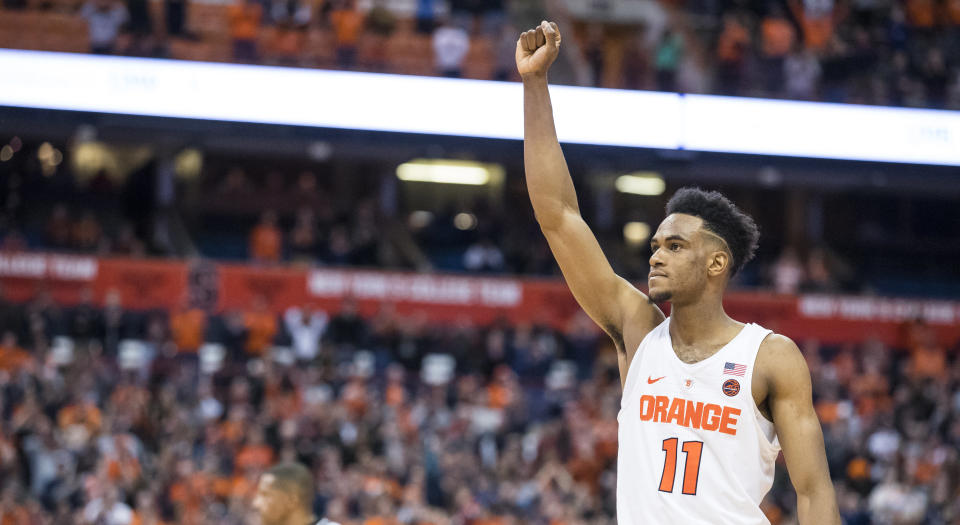 Canadian Oshae Brissett made the ACC All-Rookie team after a stellar year playing for Syracuse University.